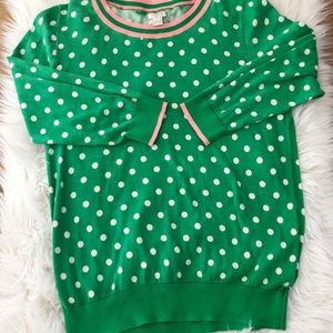 J.Crew Factory Tipped Polka Dot Sweater